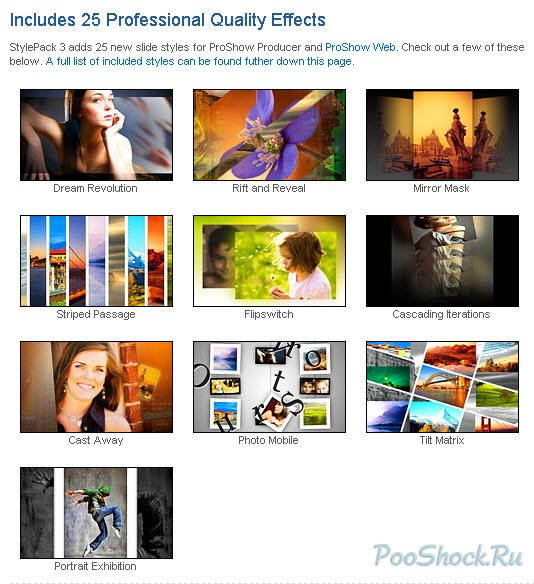 Photodex Style Pack submited images.