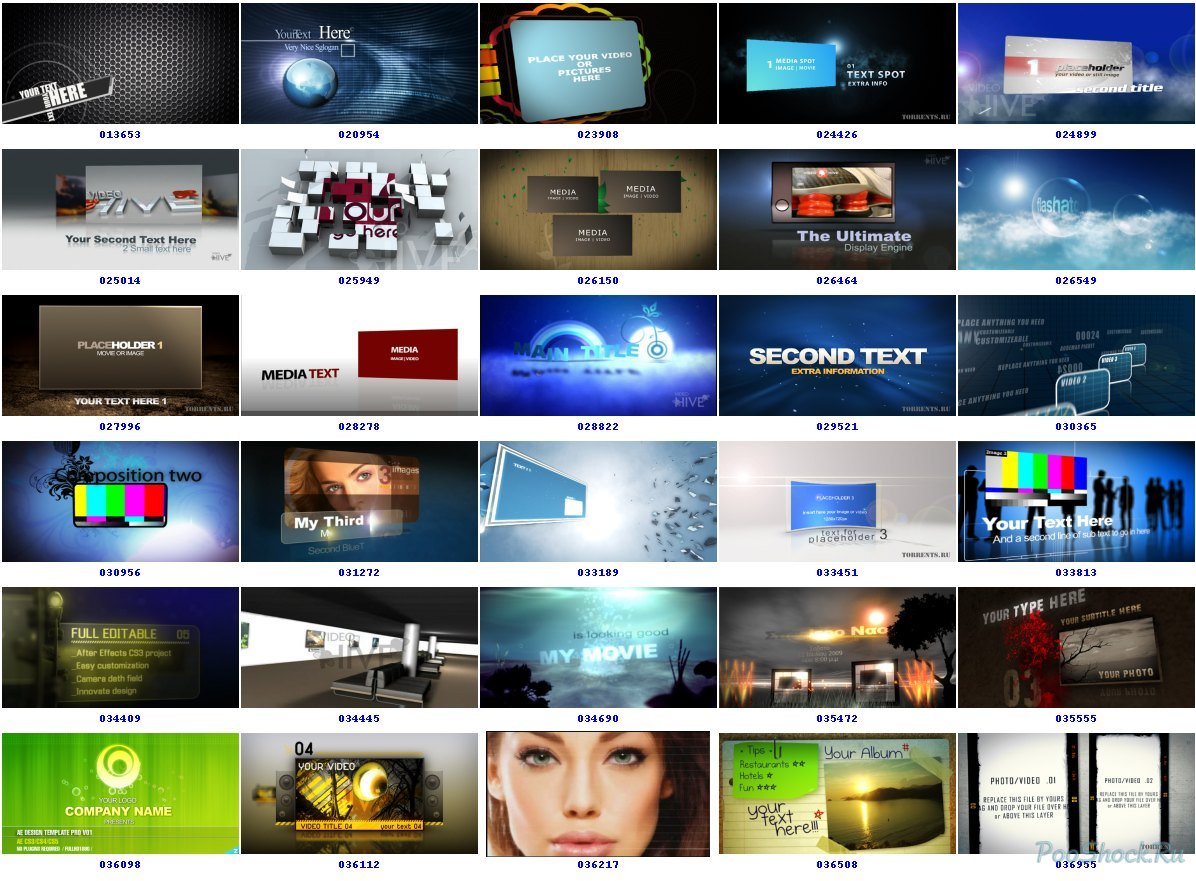 Videohive projects pack 1a for after effects : siomidtors