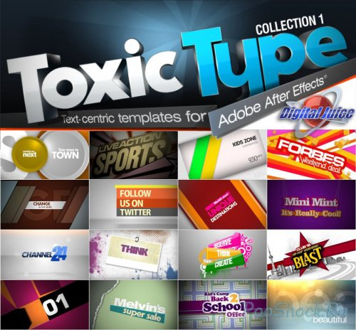 Digitаl Juicе - Toxic Type Collection 1 (50 Projects for After Effects)