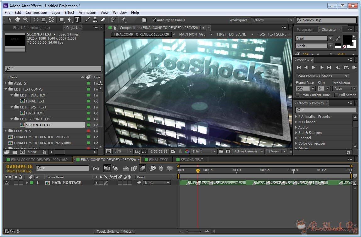 Adobe After Effects CS6 (v 11 0 2 12) 64-bit » PooShock Ru