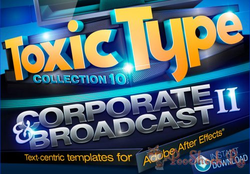 Toxic Type Collection 10: Corporate and Broadcast-2 (for After Effects)