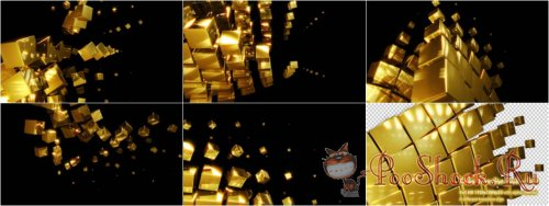Videohive - Cube Transition Pack - Gold