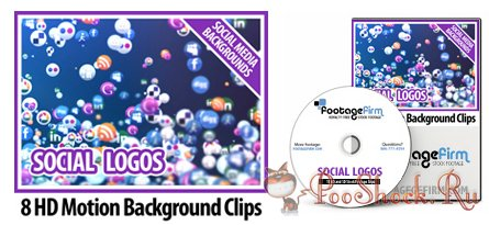 FootageFirm - Social Logos Social Media Backgrounds