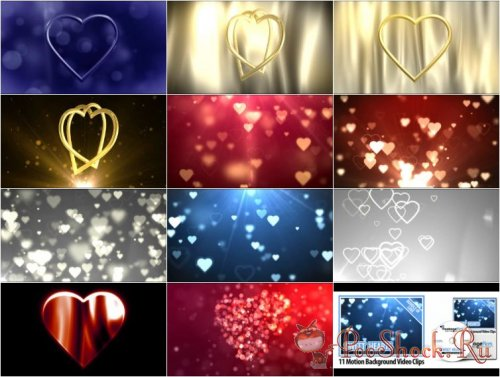 FootageFirm - Sweet Hearts Motion Backgrounds Video Clips (Bundle of Love)