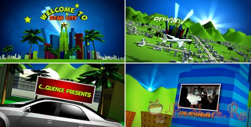 Videohive - Cartoon star city (.aep)