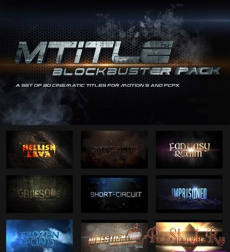 motionVFX - mTitle blockbuster pack for Motion 5 and Final Cut Pro X