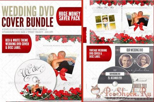 Wedding DVD Cover & Disc Label Premium Bundle