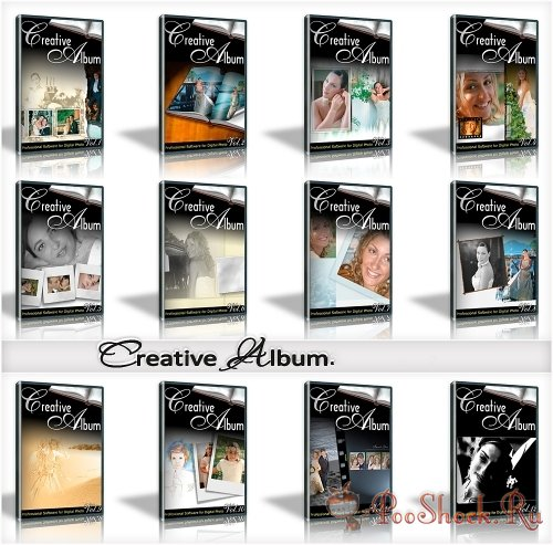 Creative Album Templates - Wedding 12 sets