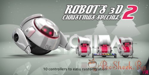 Videohive - Robots 3D Christmas Special II (.aep)