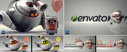 Videohive - Robots 3D logo bumpers I-II (.aep)