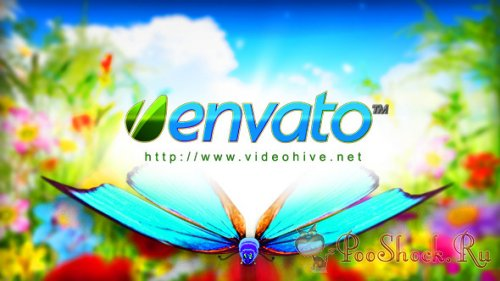 VideoHive -  Logo Featuring Butterflies in Natural Environment (.aep)