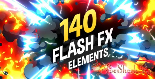 Videohive - 140 Flash FX Elements