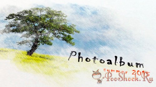 VideoHive - Pencil Watercolor Photo Album (.aep)