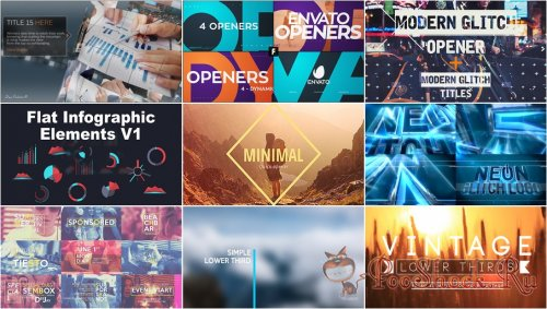 VideoHivePack - 166 (After Effects Projects Pack)