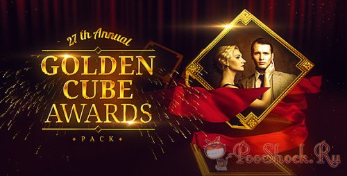 VideoHive - Golden Cube - Awards Pack