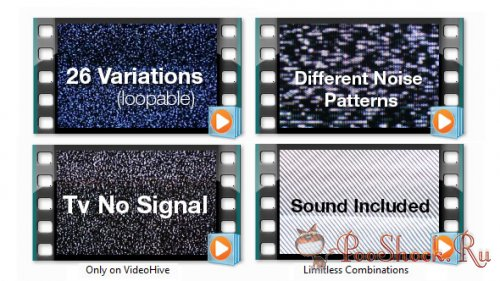 Videohive - TV Noise - No Signal Bundle (.mov)
