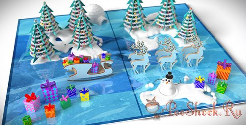 VideoHive - Christmas Pop-Up Card  (.aep)