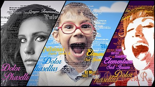 VideoHive - 3D Typography Portrait Tool (.aep)