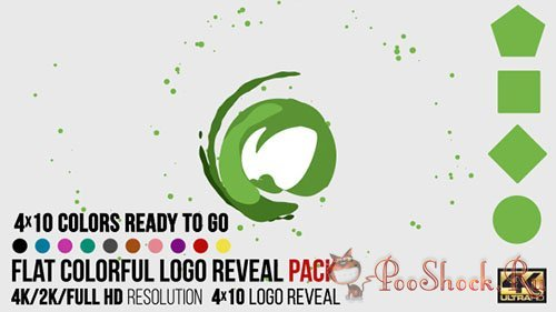 VideoHive - Flat Colorful Logo Reveal Pack (.aep)