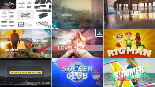 VideoHivePack - 264 (After Effects Projects Pack)