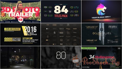 VideoHivePack - 314 (After Effects Projects Pack)