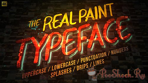 VideoHive - Real Paint Typeface Kit (AE-Project)