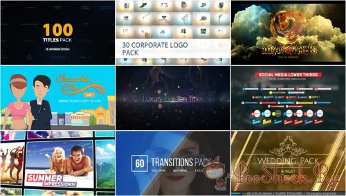 VideoHivePack - 454 (After Effects Projects Pack)