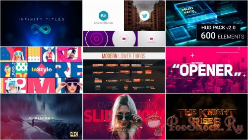 VideoHivePack - 560 (After Effects Projects Pack)
