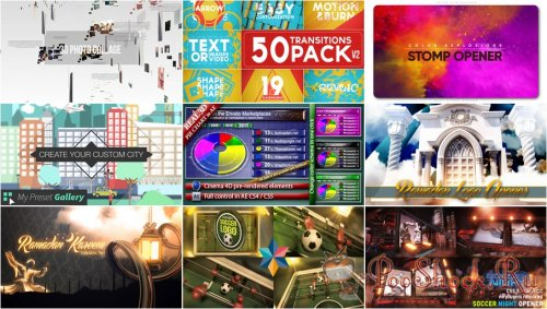 VideoHivePack - 570 (After Effects Projects Pack)