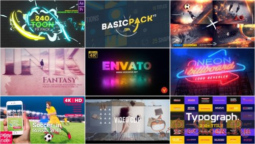 VideoHivePack - 572 (After Effects Projects Pack)