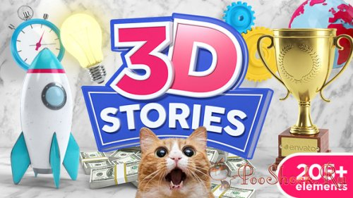 VideoHive - 3D STORIES - Explainer Icons Toolkit (AEP)