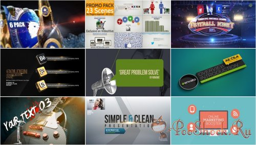 VideoHivePack - 601 (After Effects Projects Pack)