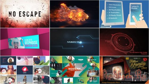 VideoHivePack - 619 (After Effects Projects Pack)