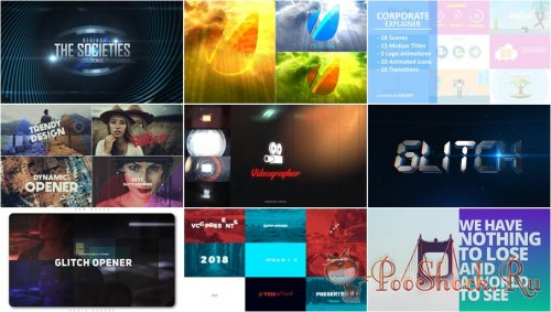 VideoHivePack - 633 (After Effects Projects Pack)