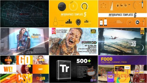 VideoHivePack - 671 (After Effects Projects Pack)