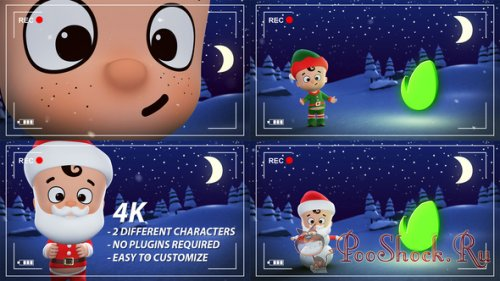 VideoHive - Santa & Elf Christmas Animation Opener (aep)