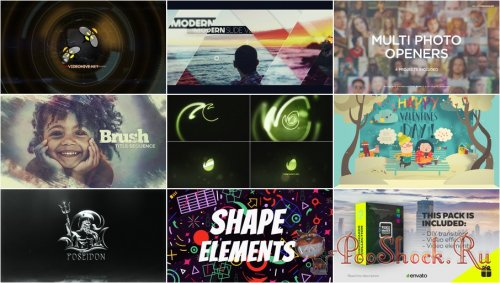 VideoHivePack - 708 (After Effects Projects Pack)