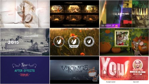 VideoHivePack - 725 (After Effects Projects Pack)