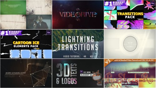 VideoHivePack - 750 (After Effects Projects Pack)