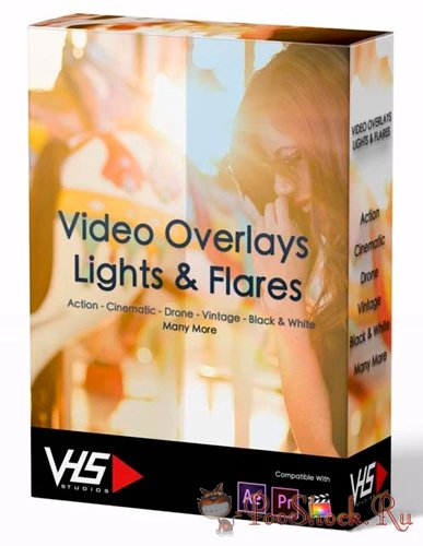 Video Overlays Lights &  Flares (MP4)