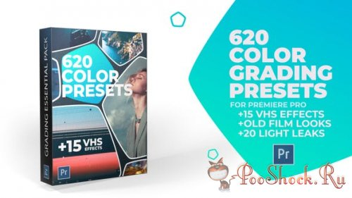 620 Cinematic Color Presets, 15 VHS Video Effects, Old Film Looks (For Premiere Pro CC)