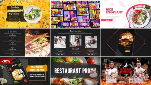VideoHivePack - 817 (After Effects Projects Pack) - [Restaurant]