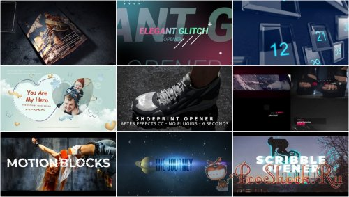 VideoHivePack - 852 (After Effects Projects Pack) - [Opener]