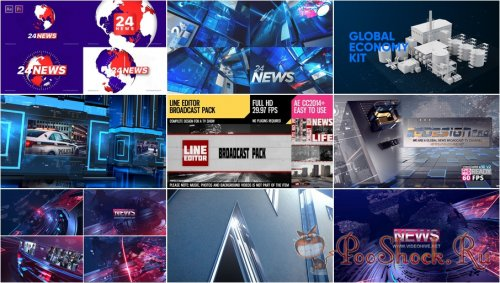 VideoHivePack - 856 (After Effects Projects Pack) - [News]